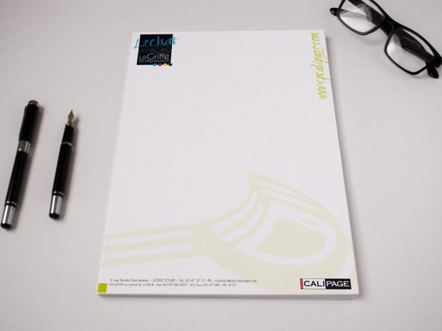 Impression papier en-tête personnalisé, avec Lechat